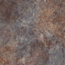 "Ovations Textured Slate 14"" x 14"" Vinyl Tile in Bluestone"