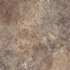 "Ovations Textured Slate 14"" x 14"" Vinyl Tile in Brown"
