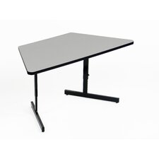 Adjustable Height Melamine Computer and Training Table