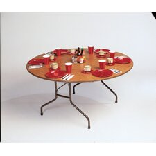 <strong>Correll, Inc.</strong> Melamine Top Round Folding Table