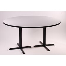 "<strong>Correll, Inc.</strong> 29"" High Round Bar and Café Table with 2 Cross Bases and 2 Columns"
