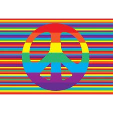 Fun Time Groovy Peace Kids Rug
