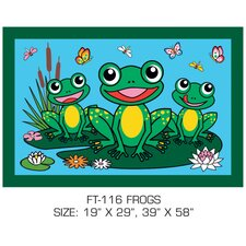 Fun Time Frogs Kids Rug