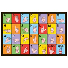 <strong>Fun Rugs</strong> Fun Time Sign Language Kids Rug