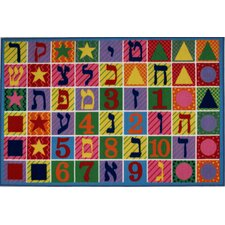 Fun Time Hebrew Numbers and Letters Kids Rug