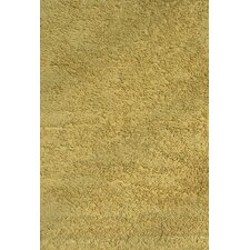 Yellow Shag Kids Rug