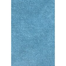 Light Blue Shag Kids Rug