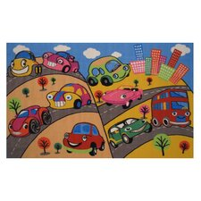 <strong>Fun Rugs</strong> Fun Time Fun Cars Kids Rug