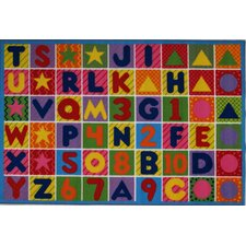 Fun Time Numbers and Letters Kids Rug