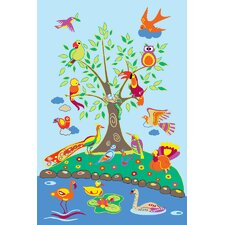 Fun Time Birds of Paradise Kids Rug