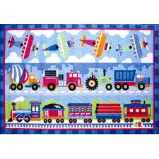 Olive Kids Trains, Planes and Trucks Kids Rug