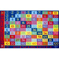 Fun Time Multiplication Classroom Kids Rug
