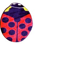 Fun Shape High Pile Ladybug Kids Rug