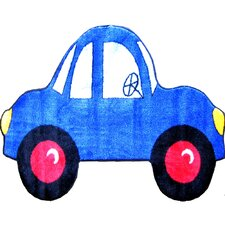 Fun Shape High Pile Car Kids Rug