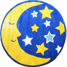 Fun Shape High Pile Moon and Stars Space Kids Rug