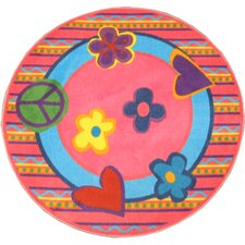 Fun Shape High Pile Peace Kids Rug