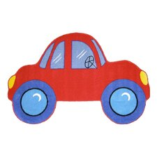 Fun Shape Medium Pile Car Kids Rug