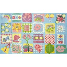 Supreme Funky Patchwork Girls Kids Rug