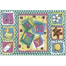 <strong>Fun Rugs</strong> Jade Reynolds Building Blocks Baby Kids Rug
