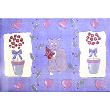 Jade Reynolds Cat and Pot Flower Kids Rug