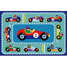 <strong>Fun Rugs</strong> Olive Kids Vroom Car Kids Rug