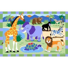 Olive Kids Wild Animals Jungle Kids Rug