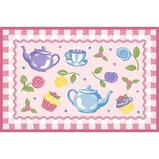 Olive Kids Tea Party Pink Area Rug