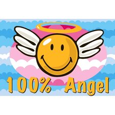 <strong>Fun Rugs</strong> Smiley World Smiley Angel Kids Rug