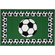 Fun Time Soccer Time Kids Rug