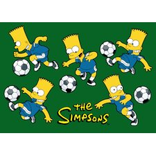 <strong>Fun Rugs</strong> The Simpsons Soccer Fun Kids Rug
