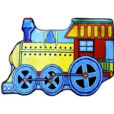 Fun Shape High Pile Train Kids Rug