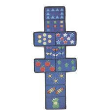 Fun Shape Medium Pile Hopscotch Kids Rug