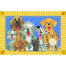 Wags and Whiskers The Dogs of Duckport Kids Rug