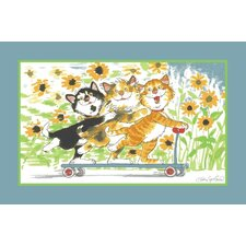 Wags and Whiskers Duckport Kitties Take A Ride Kids Rug
