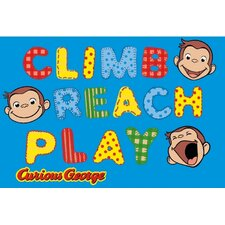Curious George Climb, Reach, Play Kids Rug