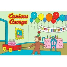 Curious George Birthday Kids Rug