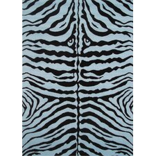 <strong>Fun Rugs</strong> Fun Time Blue Zebra Skin Kids Rug