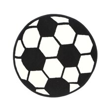 Fun Shape High Pile Soccerball Sports Kids Rug