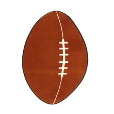 <strong>Fun Rugs</strong> Fun Shape High Pile Football Sports Kids Rug