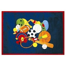 Fun Time American Sports Kids Rug