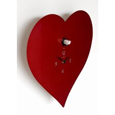 Cuckoo Heart Wall Clock
