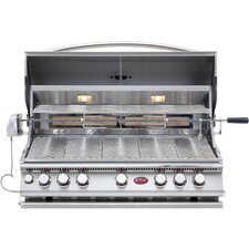 Built-In 5-Burner Convection Gas Grill with Rotisserie