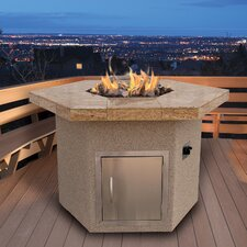 <strong>CalFlame</strong> Dining Height Hexagon Gas Fire Pit