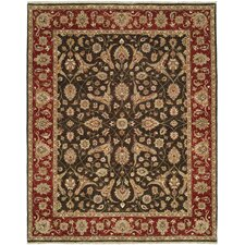 Royal Zeigler Black/Red Rug