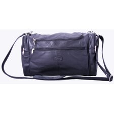 "<strong>Leatherbay</strong> 17"" Mini Leather Carry-On Duffel"