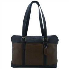 <strong>Leatherbay</strong> Commuter Laptop Tote Bag