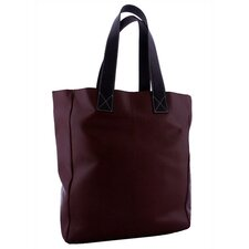 <strong>Leatherbay</strong> Leather Shopping Tote in Dark Brown