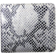 Italian Leather Snake Print Bi-Fold Wallet