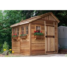 Sunshed 8' W x 8' D Wood Garden Shed
