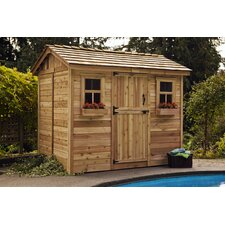 Cabana 9ft. W x 6ft. D Wood Garden Shed